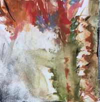 She who rarely bloomed 5 by Chafa Ghaddar contemporary artwork painting