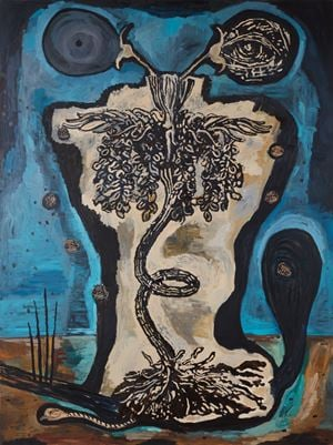 Seeds by Damien Deroubaix contemporary artwork painting