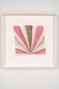 Title TBD (Stella sunrise textile) by Yto Barrada contemporary artwork mixed media