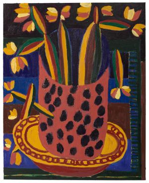 Untitled Flowers by Tal R contemporary artwork