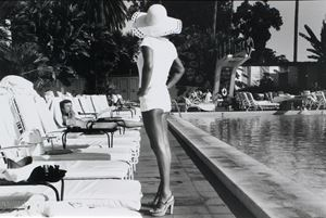 Woman by the Pool, Beverly Hills Hotel, Beverly Hills, California, U.S.A. by Anthony Friedkin contemporary artwork