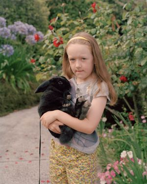 Girl with rabbit, Havelock North by Harry Culy contemporary artwork
