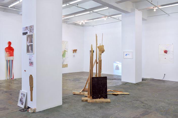 Exhibition view:Róza El-Hassan, Labyrinth of Rebellion,Thomas Erben Gallery, New York (24 May–23 June 2018). Courtesy Thomas Erben Gallery.