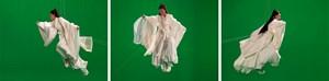 Green Screen Goddess Triptych (Ten Thousand Waves) by Isaac Julien contemporary artwork