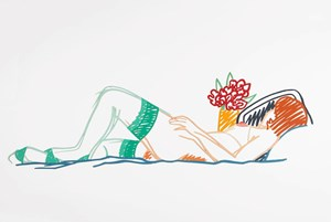 Nude with Bouquet and Stockings (#5) by Tom Wesselmann contemporary artwork