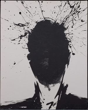 Shadow Head with White Background by Richard Hambleton contemporary artwork