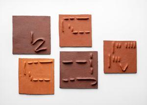 Pidgin Tiles Set 5 by Pyda Nyariri contemporary artwork sculpture
