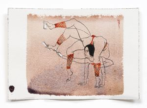 Antibody drawing 2 by Hayv Kahraman contemporary artwork