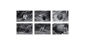 Rice/Tree/Burial: Burial of the Time Capsule by Agnes Denes contemporary artwork