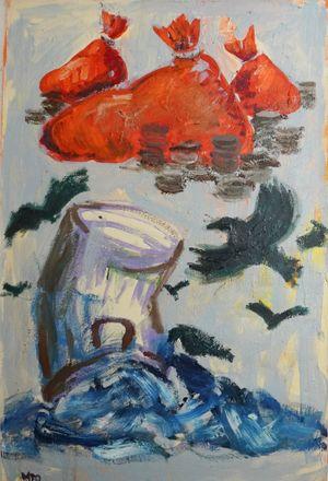 Manilascape 5 by Manuel Ocampo contemporary artwork