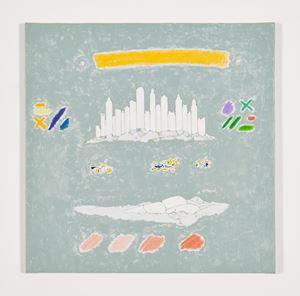 Primavera Grigio (con trementina) by Gianfranco Baruchello contemporary artwork
