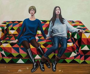 Girlfriend by Qin Qi contemporary artwork painting