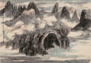 Cape d'Aguilar of Lei Yue Mun by Lui Shou-Kwan contemporary artwork