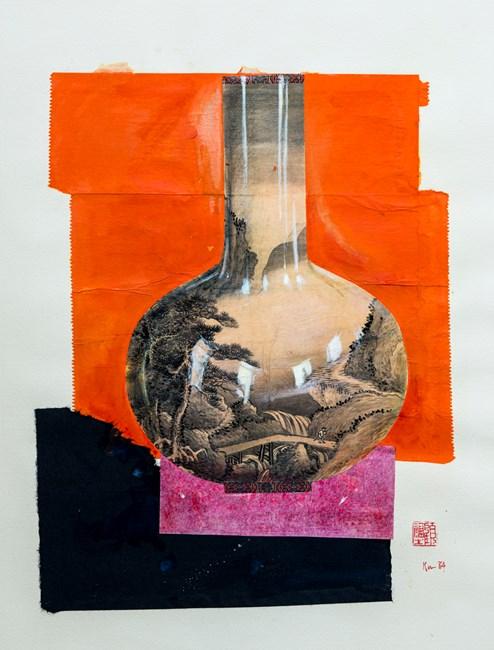 Chinese Style Vases: Vase With Landscape 瓶之組曲1號 by Gu Fusheng contemporary artwork