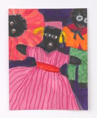 Female Doll with Two Heads Above by Betye Saar contemporary artwork painting