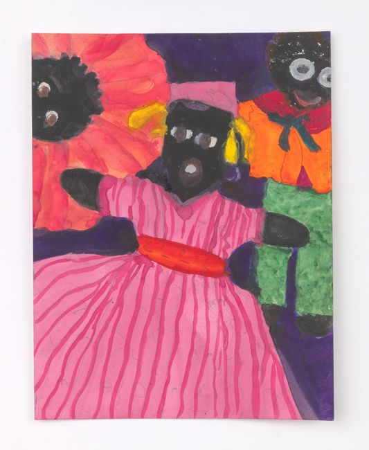 Female Doll with Two Heads Above by Betye Saar contemporary artwork