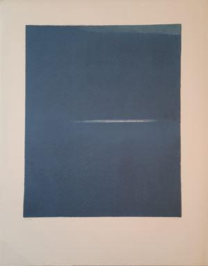 """""""Ouverture de la nuit"""" by Geneviève Asse contemporary artwork"""