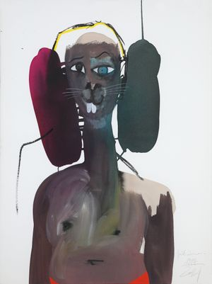 1984 by David Lehmann contemporary artwork painting, works on paper, drawing