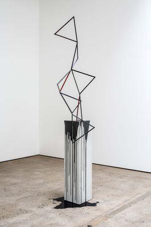 Tranquillity Now (black) by Eva Rothschild contemporary artwork