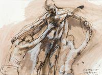 Etude pour Genet by Ernest Pignon-Ernest contemporary artwork works on paper, drawing
