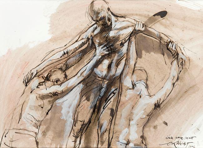 Etude pour Genet by Ernest Pignon-Ernest contemporary artwork