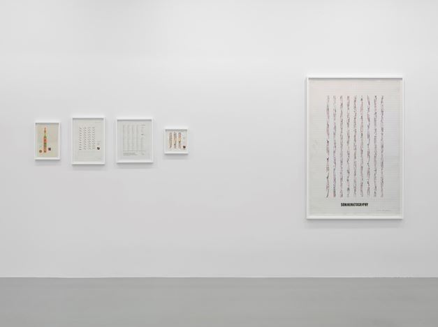 Exhibition view: Channa Horwitz, Lisson Gallery, New York (19 January–24 February 2018). © Estate of Channa Horwitz. Courtesy Lisson Gallery. Photo: George Darrell.