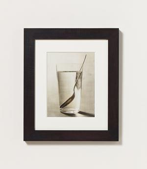 Ohne Titel (Wasserglas mit Löffel,') by Elfriede Stegemeyer contemporary artwork