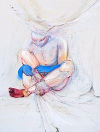Threading the net by Araminta Blue contemporary artwork painting