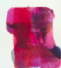 Madder Lake (Falling) by Marie Le Lievre contemporary artwork painting, works on paper