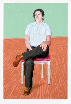 Jonathan Wilkinson by David Hockney contemporary artwork