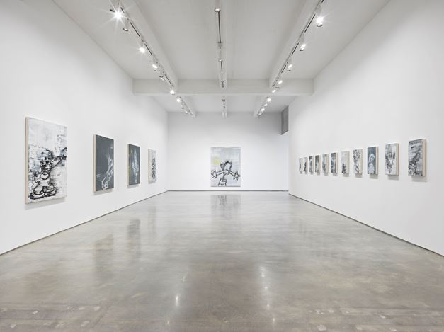 Exhibition view:Gary Simmons,Screaming into the Ether, Metro Pictures, New York (7 July–19 September 2020). Courtesy Metro Pictures, New York.