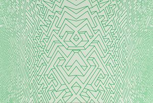 Maze Green Line by Xu Qu contemporary artwork