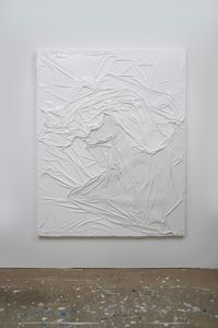 Untitled (White on White #4) by Huseyin Sami contemporary artwork painting
