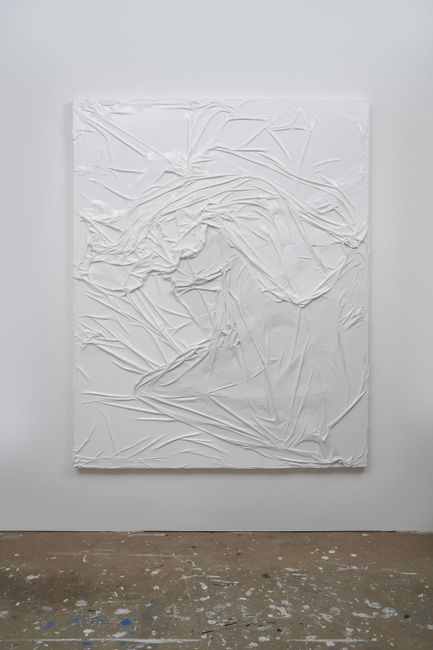 Untitled (White on White #4) by Huseyin Sami contemporary artwork