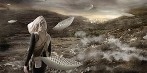 In the Future, They Ate From the Finest Porcelain 2 by Larissa Sansour contemporary artwork
