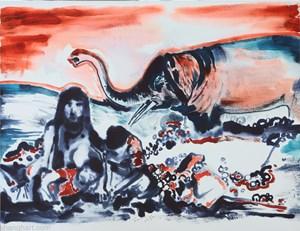 God Creates the Theory of Evolution by Sun Xun contemporary artwork
