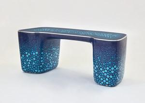 Cloisonné Blue Desk by Marc Newson contemporary artwork