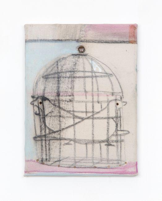 Birdcage by Merlin James contemporary artwork