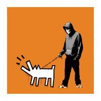 Choose Your Weapon (Dark Orange) by Banksy contemporary artwork print