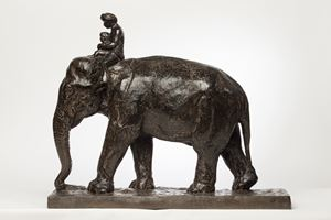 Tomaï 驭象人 by Roger Godchaux contemporary artwork