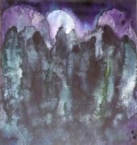 Apokalyptische Landschaft by Herbert Beck contemporary artwork works on paper
