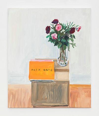 Jean-Philippe Delhomme, Studio flowers (2021) (detail).Oil on canvas, wood frame. 57 x 48 cm. Courtesy Perrotin.
