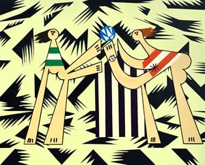 The Game by Farah Atassi contemporary artwork