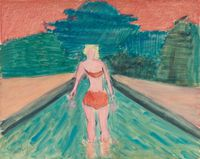 Wader by Milton Avery contemporary artwork painting