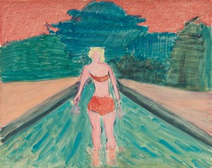 Wader by Milton Avery contemporary artwork