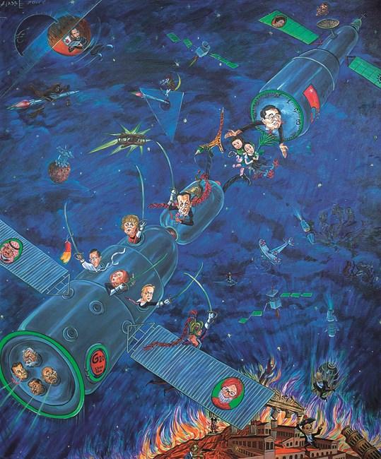Gazing into Space by Liu Dahong contemporary artwork