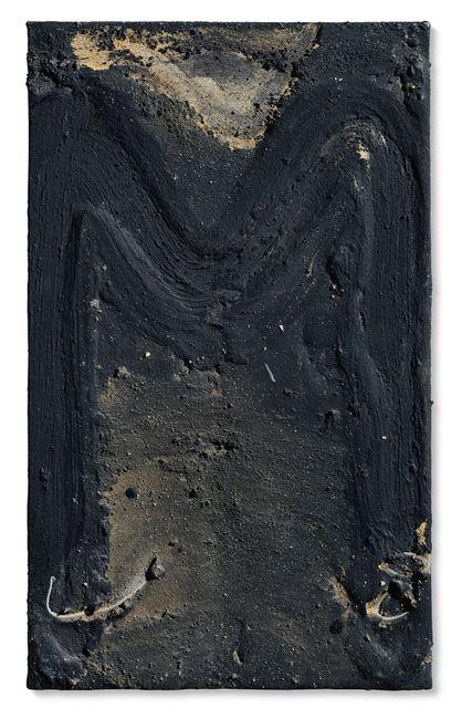 Petita M negra by Antoni Tàpies contemporary artwork