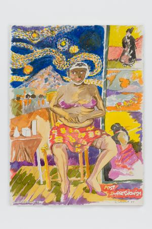 art history 11: POST IMPRESSiONiSM by Robert Colescott contemporary artwork