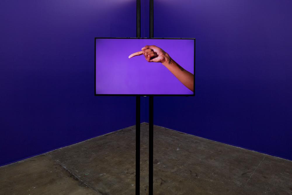 Martine Syms, Notes on Gesture, 2015. Exhibition view, Artspace, Auckland. Photo: Sam Hartnett. Image courtesy the artist.