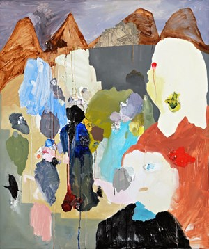 The Bald Headed Ibis by Karen Black contemporary artwork